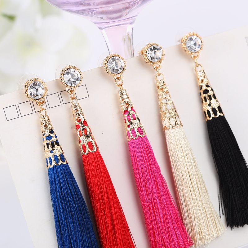 2016 neu Kommen Nationalen Stil Mode Quaste Baumeln Ohrringe Ohrringe Für Frauen Pendientes Brincos ED006