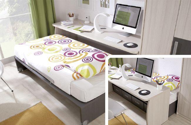 Dormitorios modernos en espacios peque os google search - Dormitorios juveniles espacios pequenos ...
