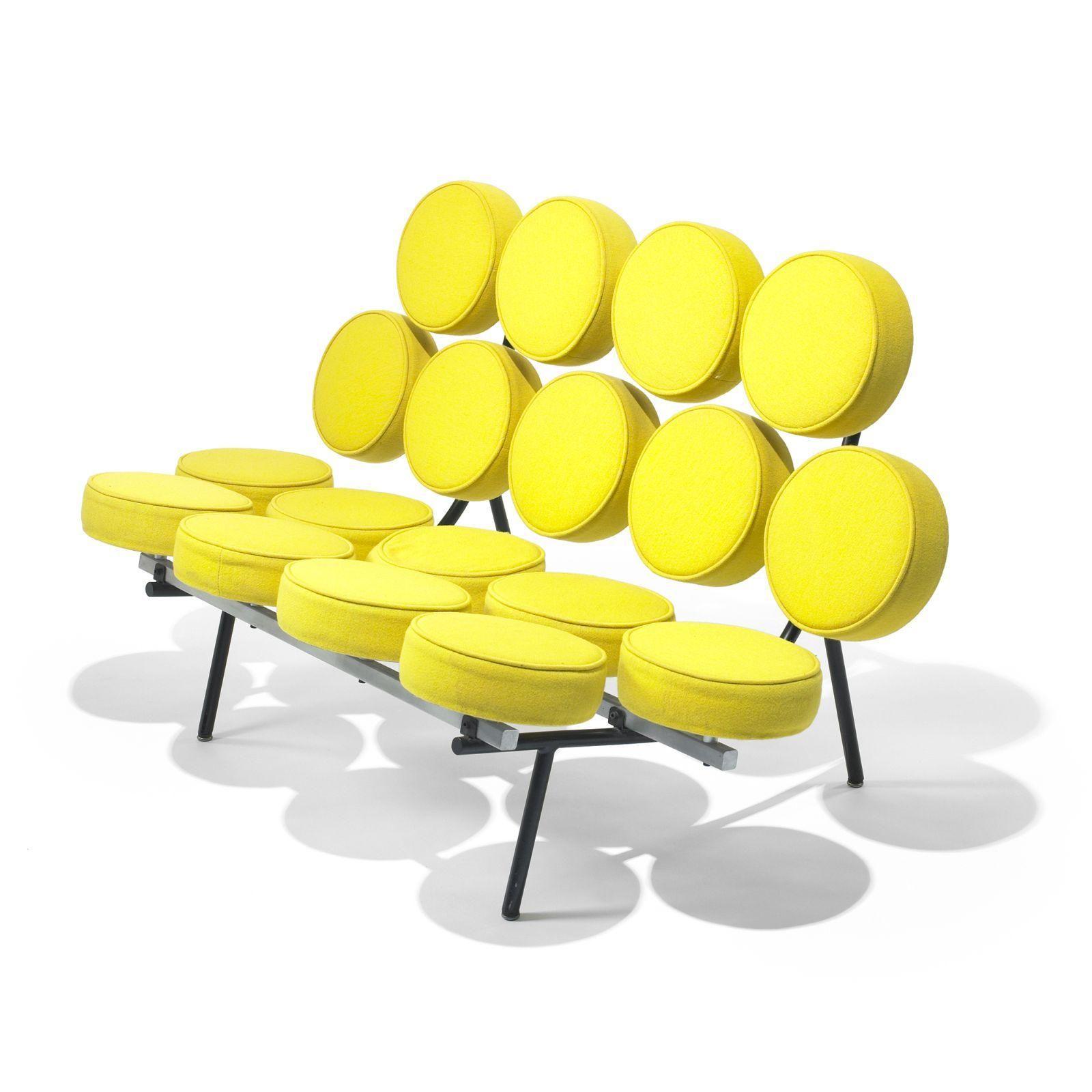 "George Nelson & Associates Marshmallow sofa model 5670 ""LOVE it in"