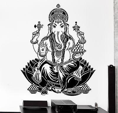 Wall Decal Buddha Lord Ganesha Indian God Buddhism Vinyl Sticker (z2872)