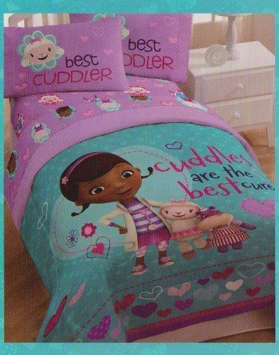 doc mcstuffins full comforter  sheet bedding 5pcs set