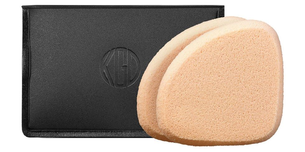 KOH GEN DO The dense elastic material of this sponge won't soak up all your foundation (or tinted moisturizer…or CC cream…), so even the priciest products will go a long way. Plus, it's handy shape and size makes it easy to deliver the perfect amount of pressure. Koh Gen Do Makeup Sponge for Liquid and Cream Foundation, $18, sephora.com.