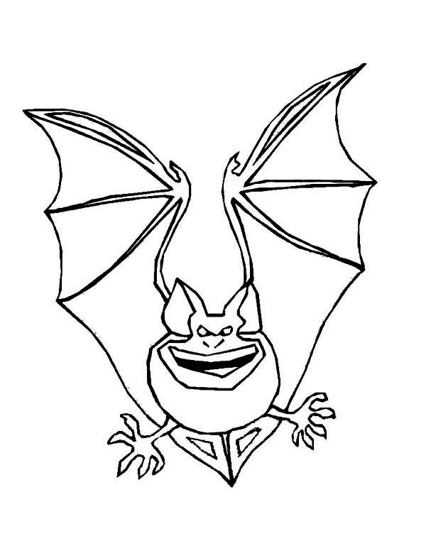 bats terrifying bats coloring page 4 kidskids