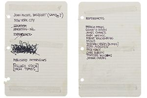 Jean Michel Basquiat S Cv Sold For 50 000 Huh Wut