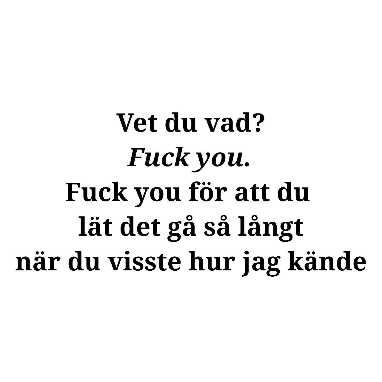 Så Trött På Allt.