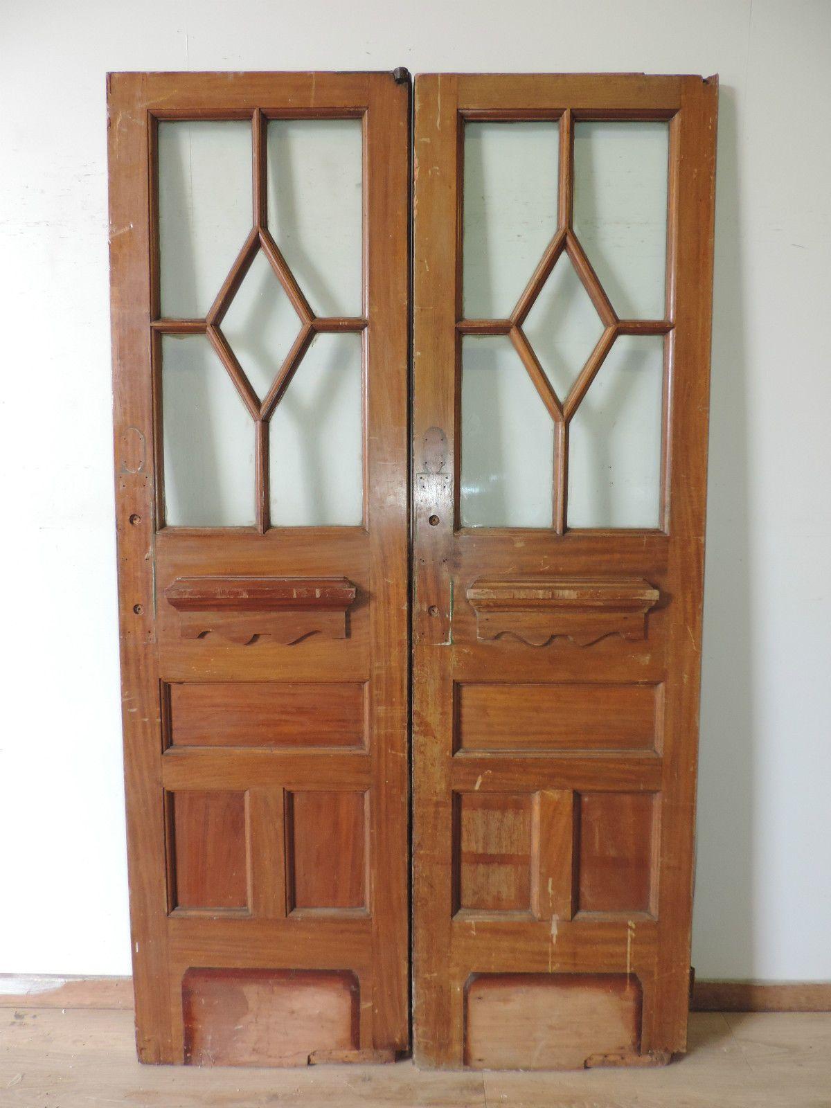 1930S Antique Reclaimed Front Doublefrench Doors Externalinternal Hardwood - Ebay