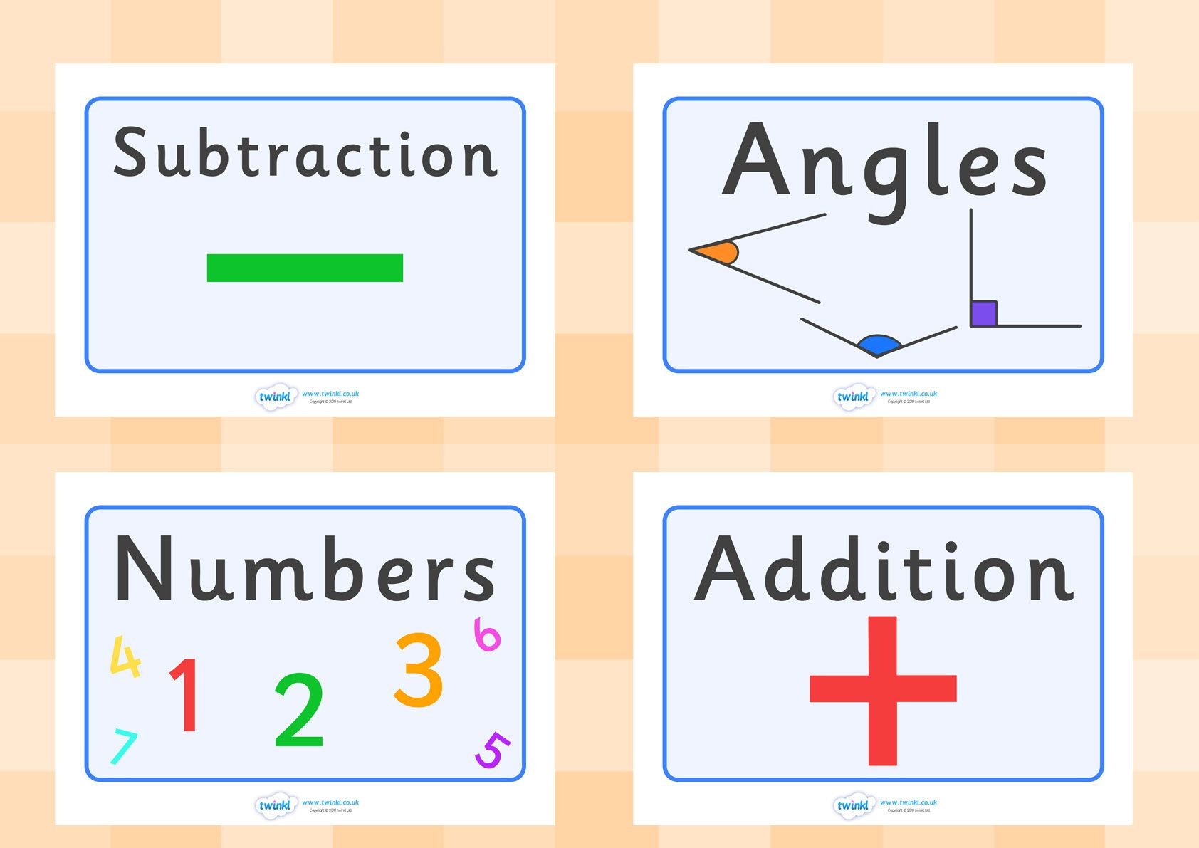 Twinkl Resources Maths Areas Display Posters Printable