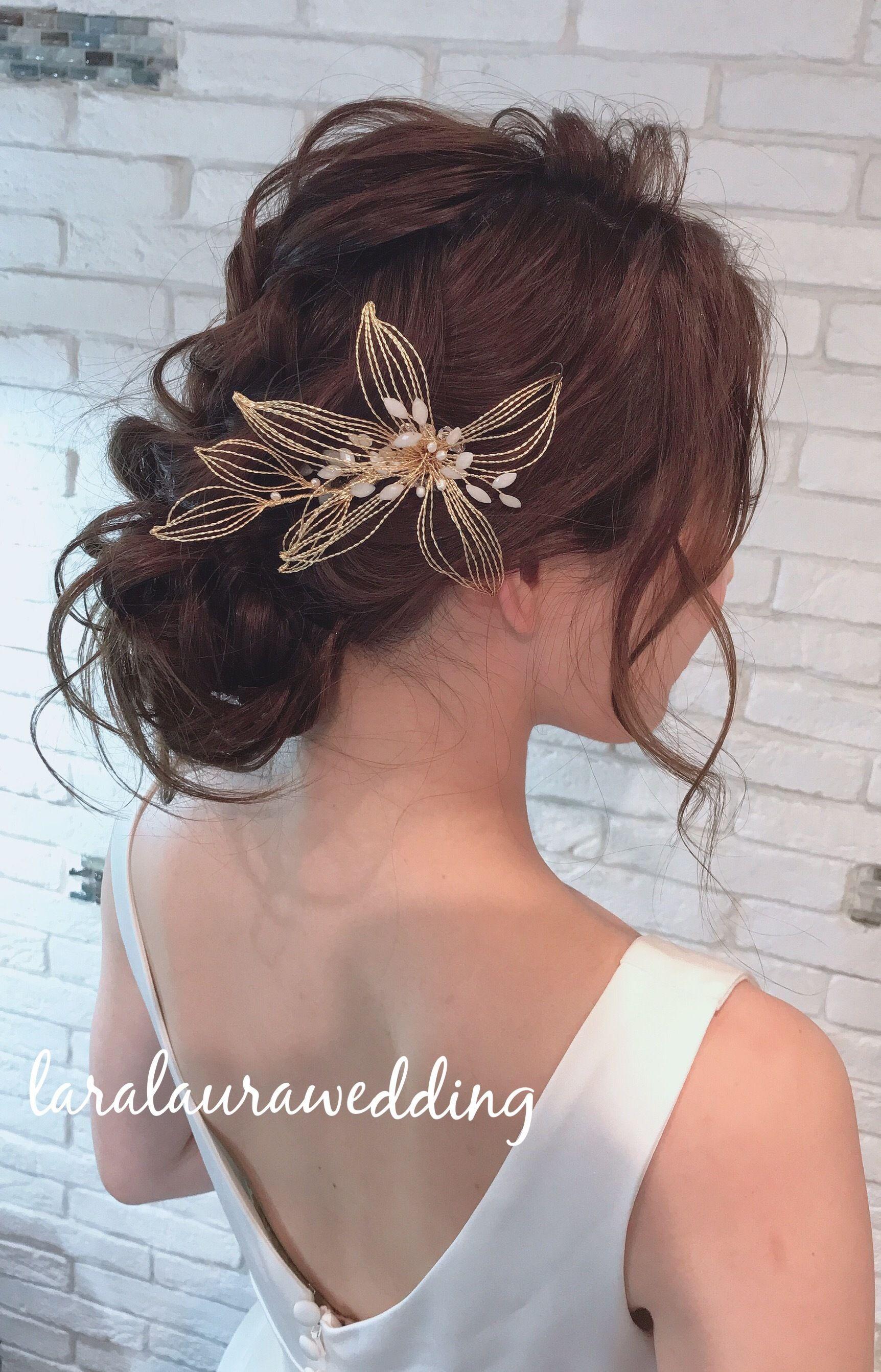 ゴールドフラワーのヘッドドレス Hd 81 Lara Laura インポート