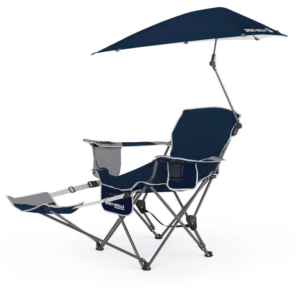 SportBrella Portable Recliner Chair Midnight Blue – Eddie Bauer Beach Chairs
