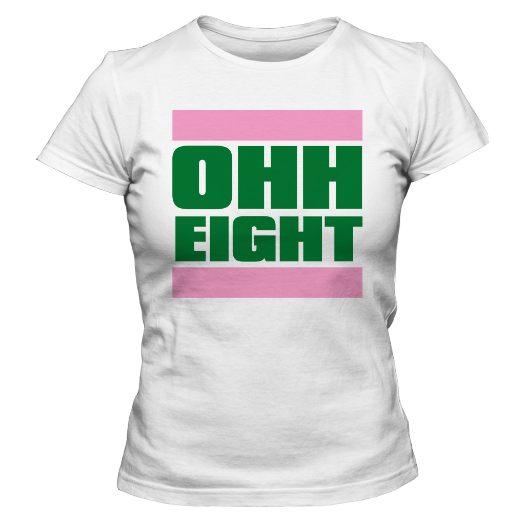 0dc79fd96 Alpha Kappa Alpha OHH Eight - Letters Greek Apparel-Black Greek  Paraphernalia-Divine Nine Apparel