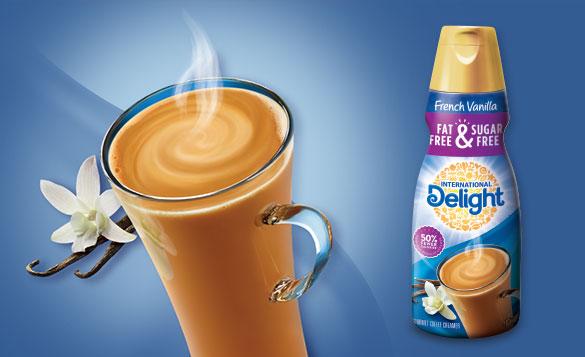 International Delight(R) Fat-Free & Sugar-Free Coffee Creamers
