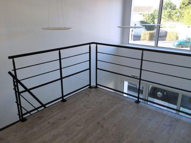 Escalier métal et garde-corps mezzanine avec verre – Vendée Escaliers,  #avec #escalier #escaliers #Escaliersmetal #gardecorps #métal #mezzanine #Vendée #Verre