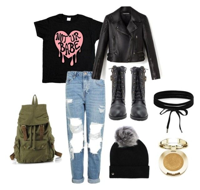 """""""malak"""" by gabrieladodani ❤ liked on Polyvore featuring Topshop, UGG, Boohoo and Milani"""