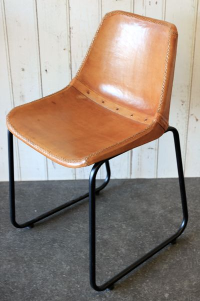 objects of design #288: industrial leather dining chair | dining