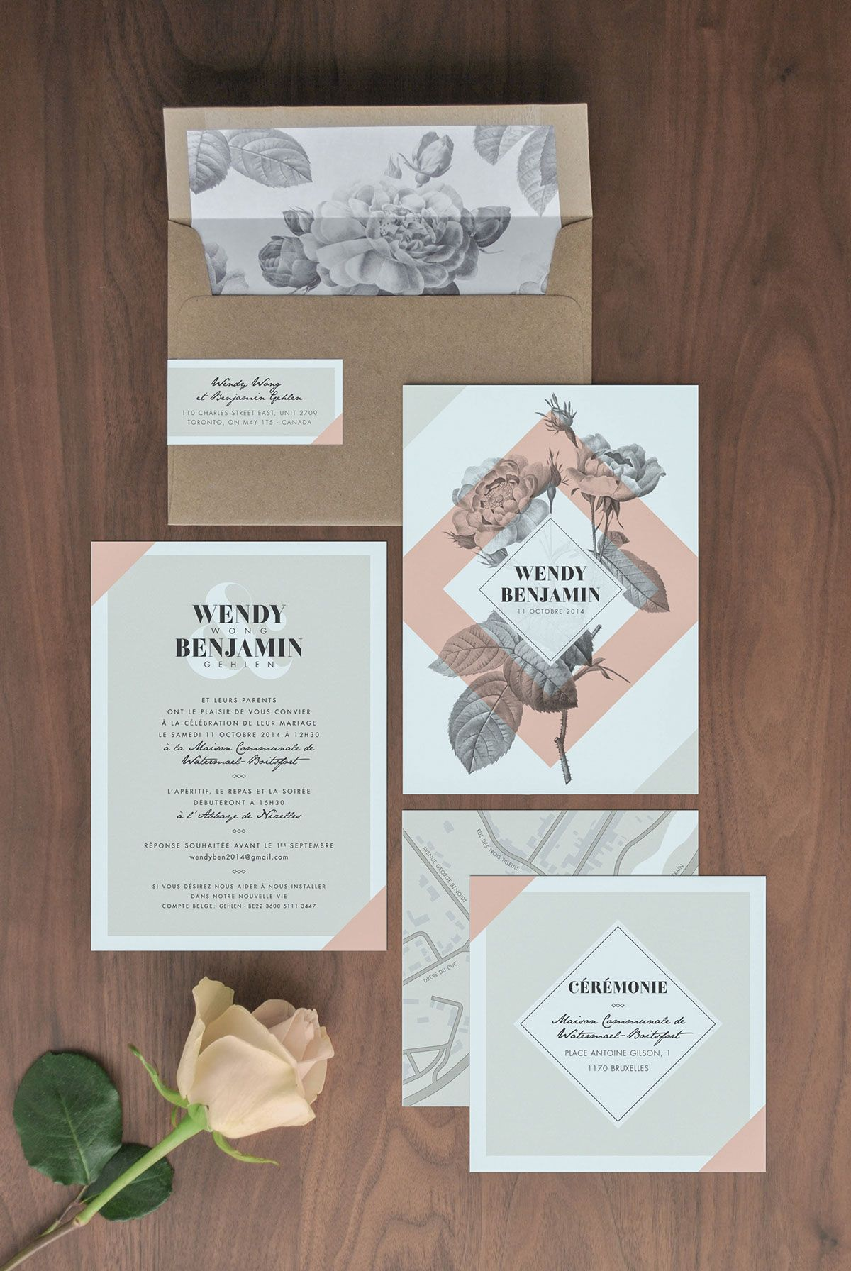 wendy benjamin on behance elegant design invites weddings