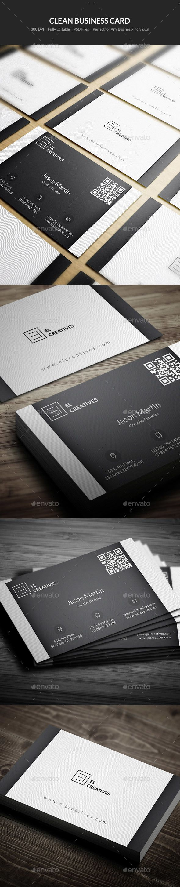 Clean Business Card 08 Business Cards Card Templates And Business