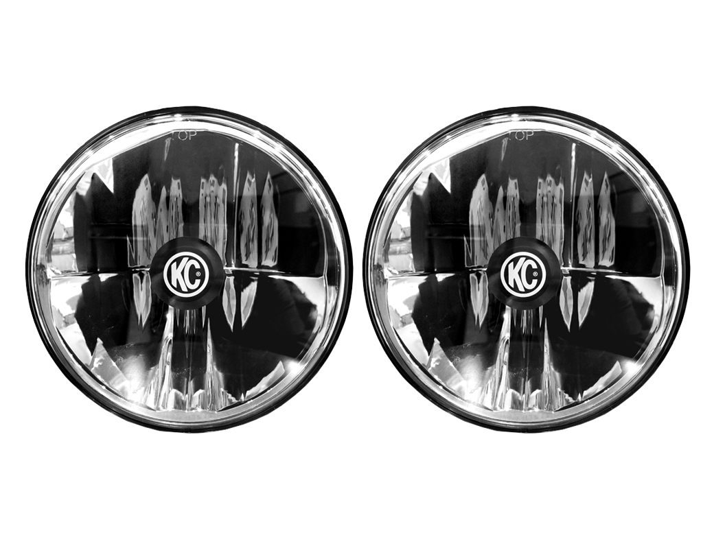 Kc Hilites Gravity Led 7 Headlight Pair Pack System Led Headlights Wrangler Jk Jeep Wrangler Jk