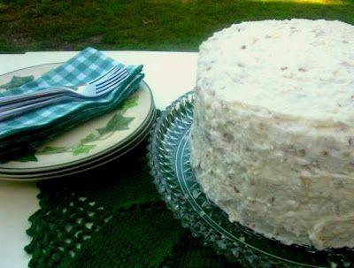Italian Cream Coconut Cake....