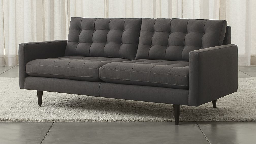 Petrie Apartment Sofa in Graphite love it so Perfect look and size