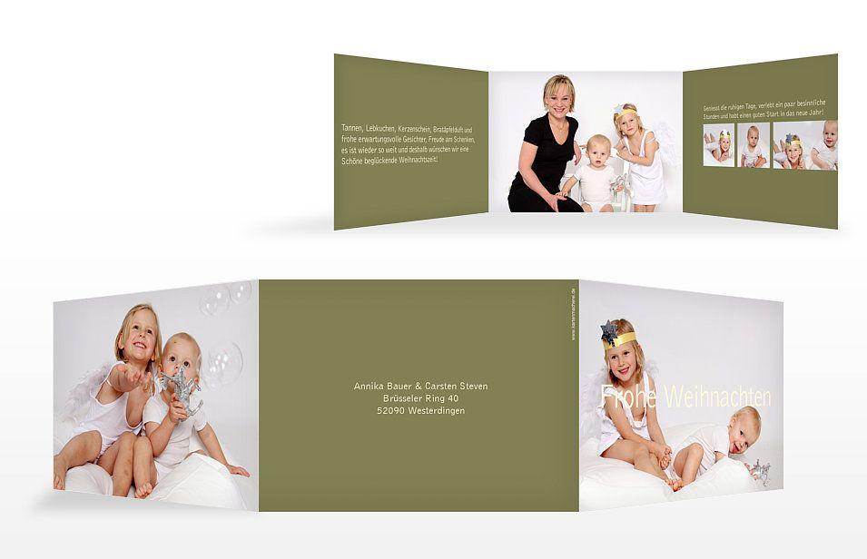 """Weihnachtskarte """"Farbreich"""""""