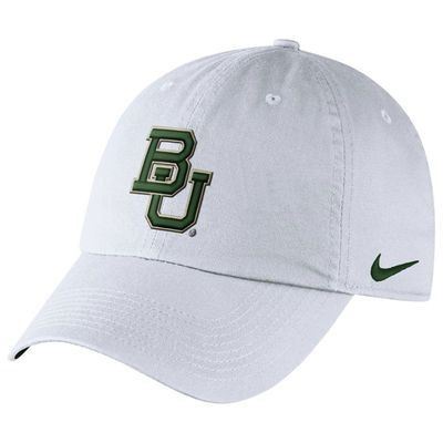 7080e446aade0 Men s Nike White Baylor Bears Heritage 86 Authentic Performance Adjustable  Hat