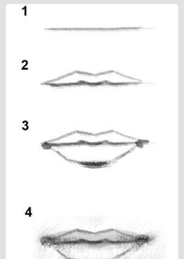 never drawing weird lips ever again