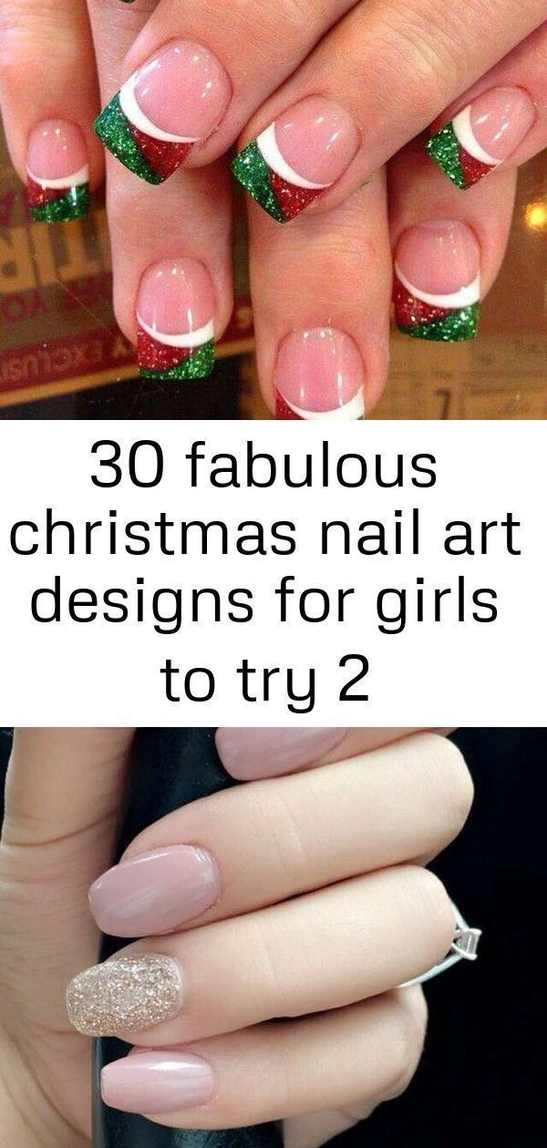 30 Fabulous Christmas Nail Art Designs For Girls to Try 27+Amazing Natural Light…