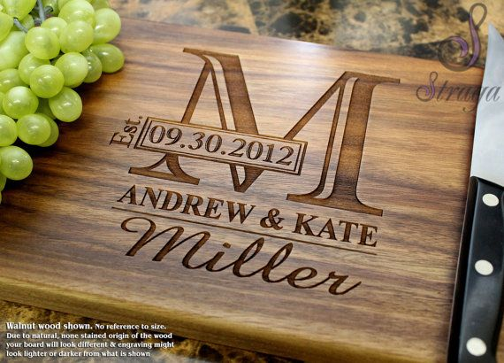 Personalized Engraved Cutting Board - Wedding Gift, Anniversary Gift, Housewarming Gift, Birthday Gift, Corporate Gift, Promotion, diy gifts, wedding gift, bridal shower gift, wedding gift, engagement party gift, mr and mrs, dates, wedding gift, couples gift, christmas gift, newly weds, diy wedding, rustic, home decor, diy decor, kitchen decor, wall art customize cutting board ( aff link)