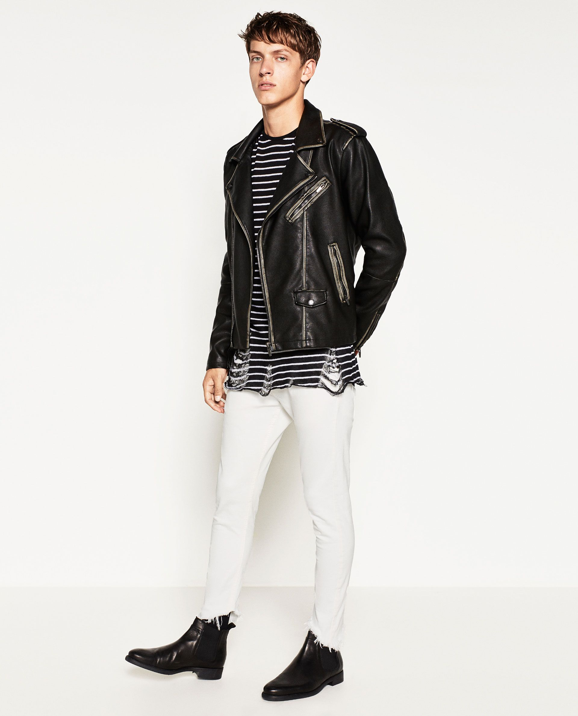 RAW EDGE TROUSERS Vintage jacket, Striped top, Menswear