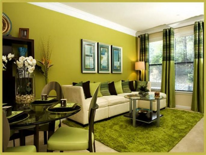 10+ Desain Cat Ruang Tamu Warna Hijau Update 2020 - Desain Dekorasi Rumah