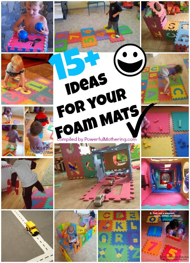 15 Plus Ideas for your Puzzle ABC or Number Foam Mat - you wont believe the variety!