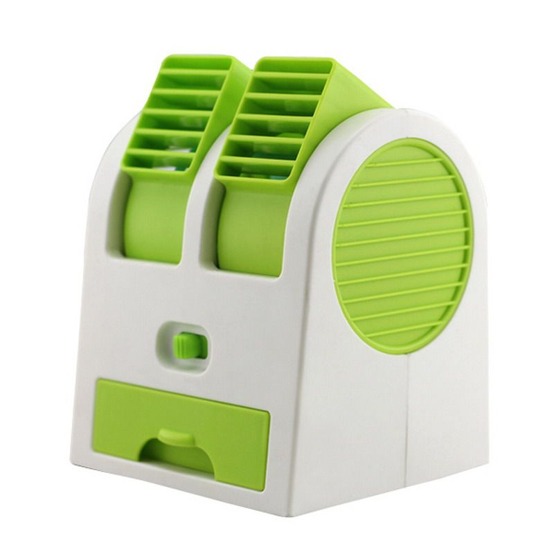 Mini Air Conditioner Fan USB Battery Dual Conditioned Mini Fan Dormitory  Office Desktop Flavor Small Turbo Fan VBU06 T50