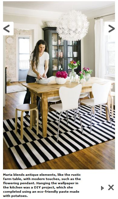 Rustic Modern Dining Room That Rug Always With That Rug
