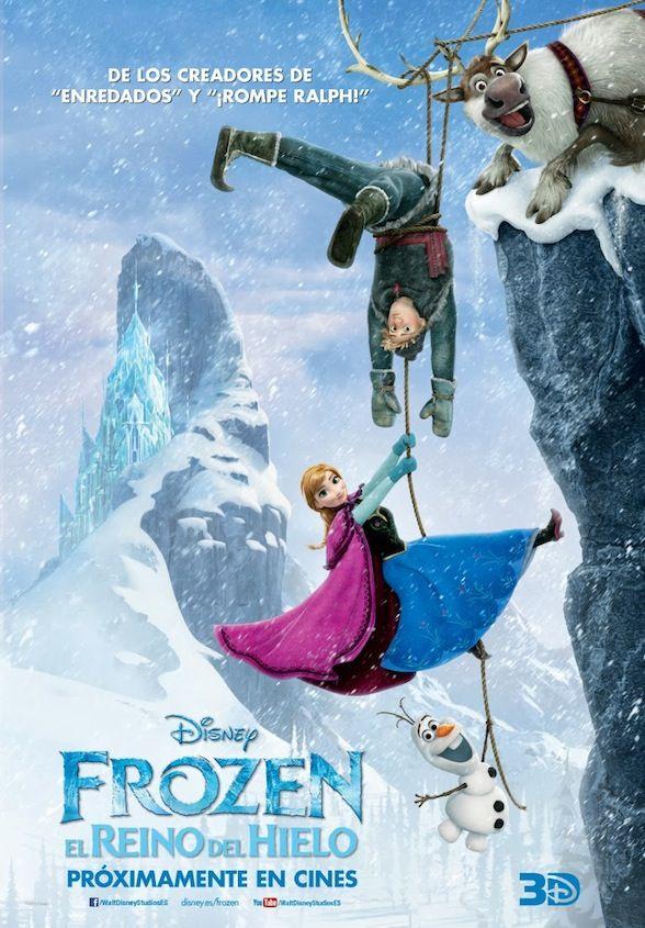 Frozen El Reino Del Hielo Nuevo Póster Español De La Reina De Las Nieves De Disney Carteles De Disney Frozen Disney Peliculas De Disney