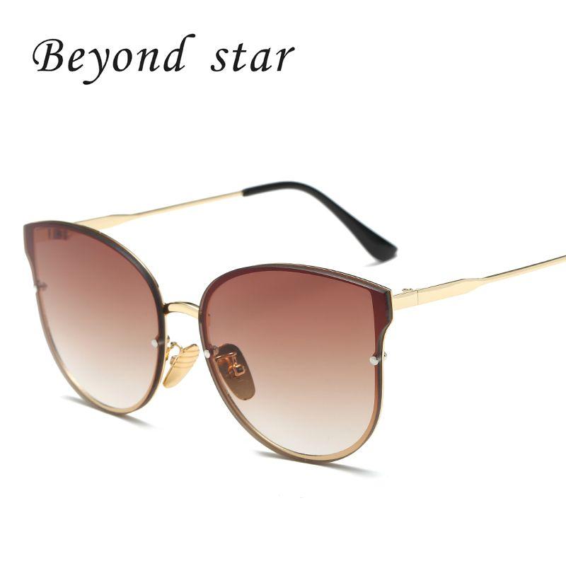 c2c0e5ef435c Beyond Star Fashion Cat Eye Sunglasses Men Women Brand Designer Classic  Retro Rose Mirror Sun Glasses For Female Oculos