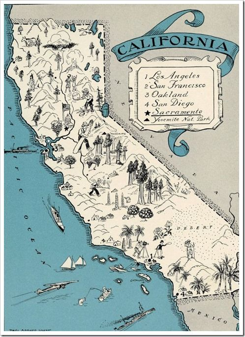 California Map It Vintage