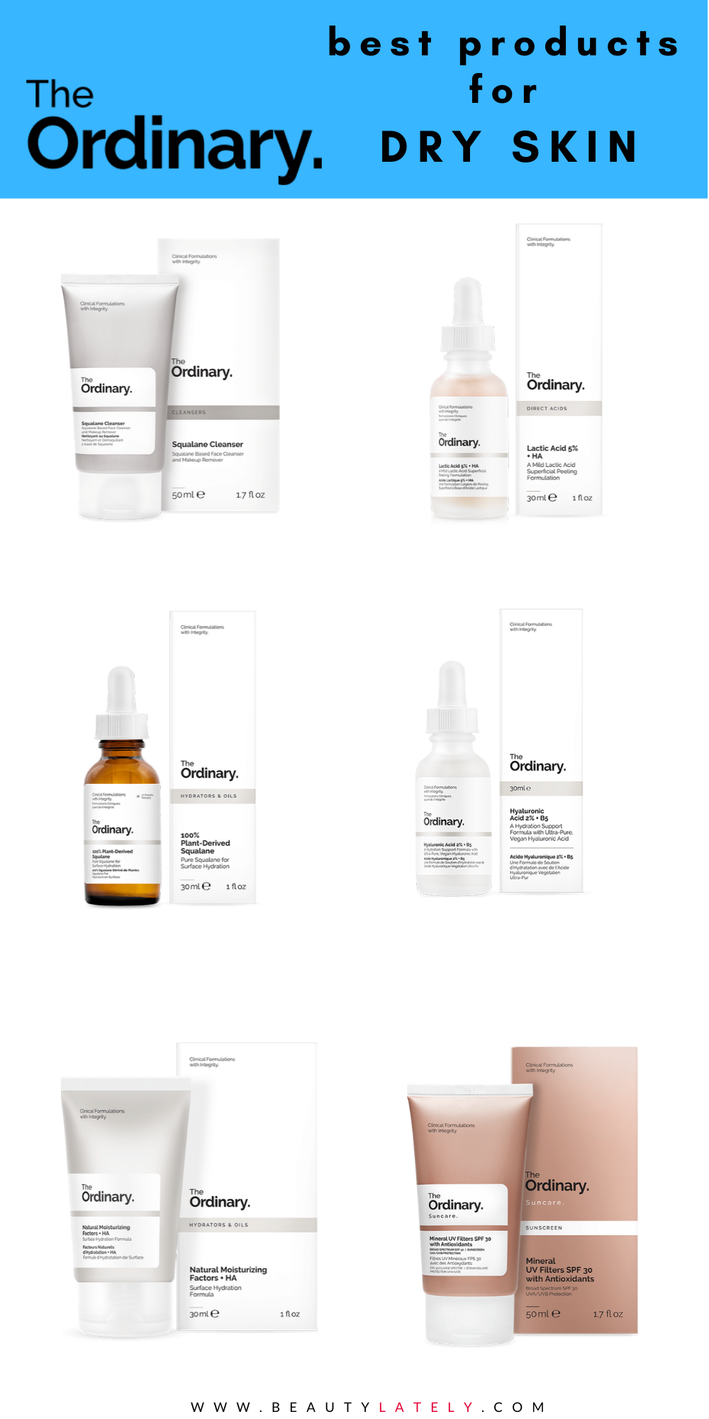 The Ordinary Shopping Guide For Dry Skin Dry Skin Routine The Ordinary For Dry Skin Dry Skin Care Routine