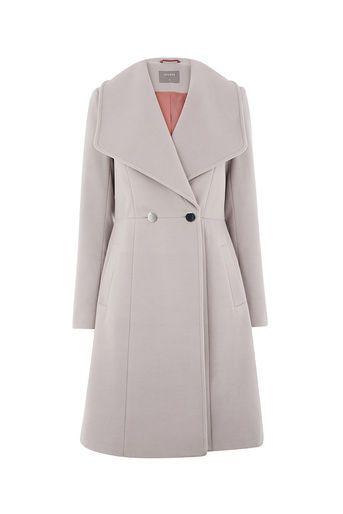 6c4fe4c7c38d Oasis, LILY PREMIUM SKATER COAT Mid Grey | Jackets and Coats ...