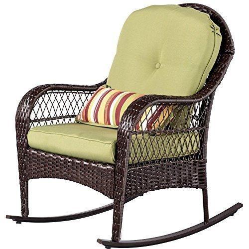 sundale outdoor wicker rocking chair rattan outdoor patio yard