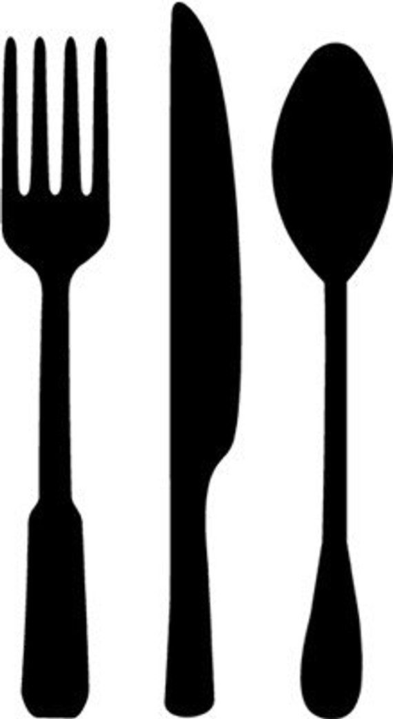 Fork Spoon Amp Knife Vinyl Wall Art Graphics Lettering