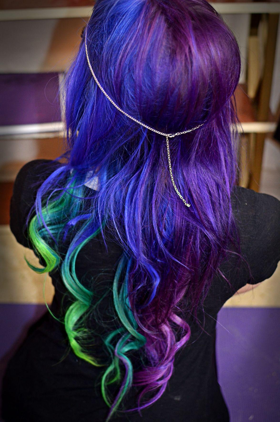Blue purple dyed hair Dyed Hair & Pastel Hair Pinterest