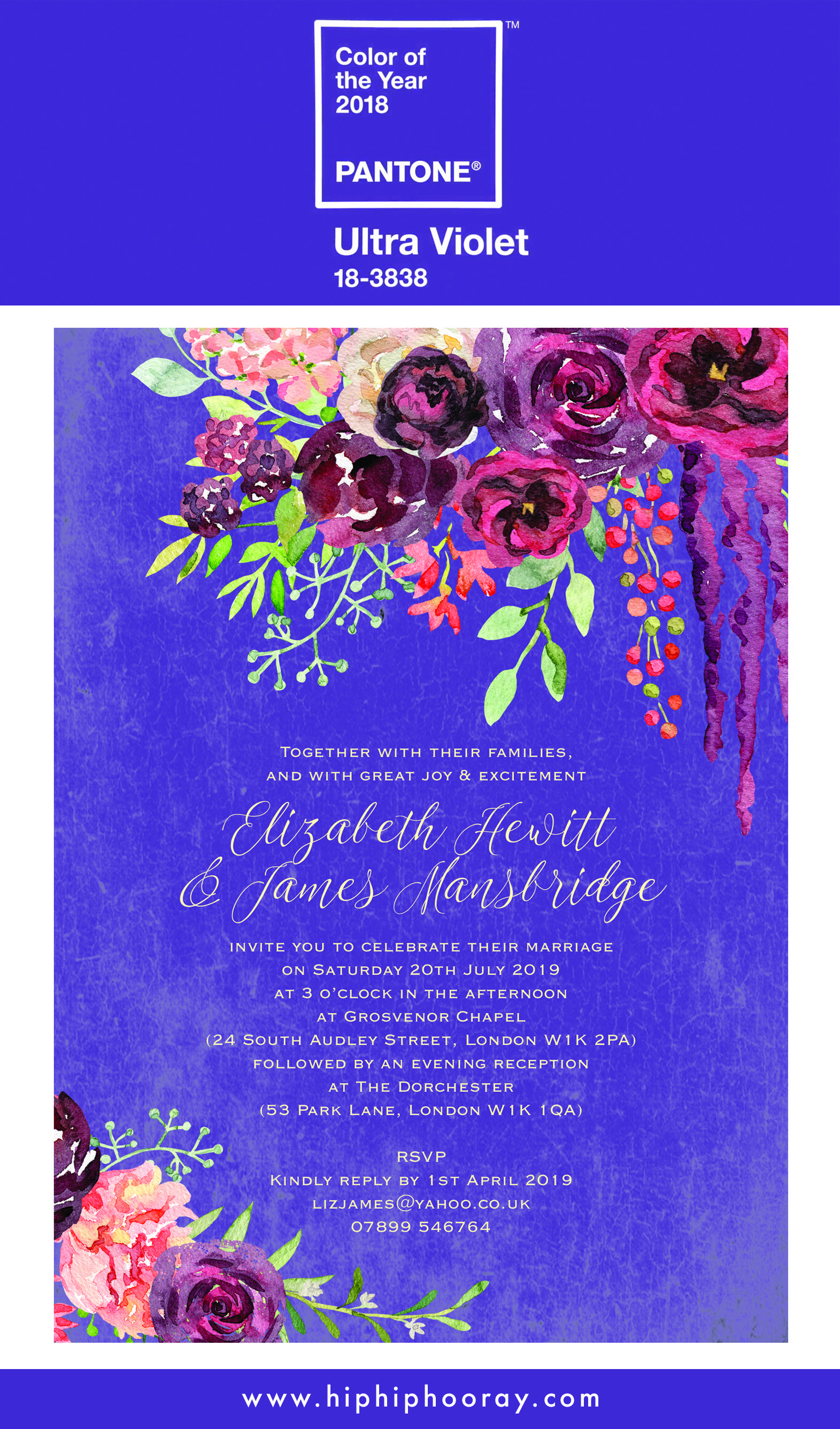 Pantone colour of the year 2018 - Ultra Violet. Wedding stationery and invitations by Hip Hip Hooray.  #pantone #pantonecolouroftheyear #pantonecoloroftheyear #pantonecolouroftheyear2018 #pantonecoloroftheyear2018 #ultraviolet #purplewedding #purpleweddinginvitations #purpleweddingstationery