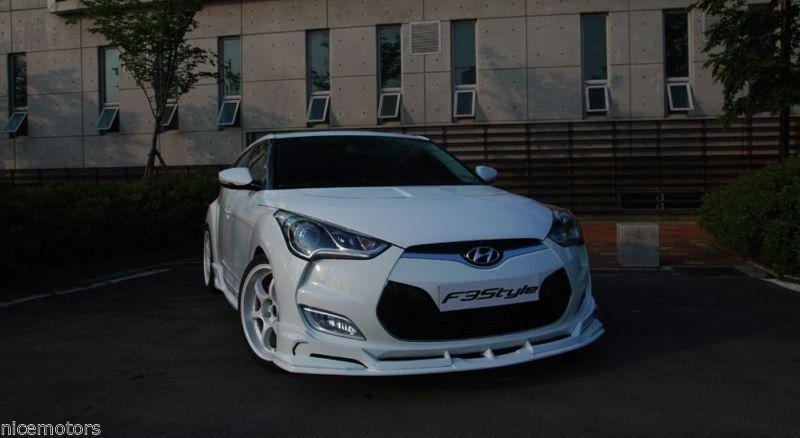 F3style Front Bumper Lip Unpainted Parts For Hyundai Veloster 2012 2015 Hyundai Veloster Hyundai Bumpers