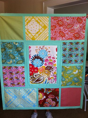 another easy quilt. for those odds  ends