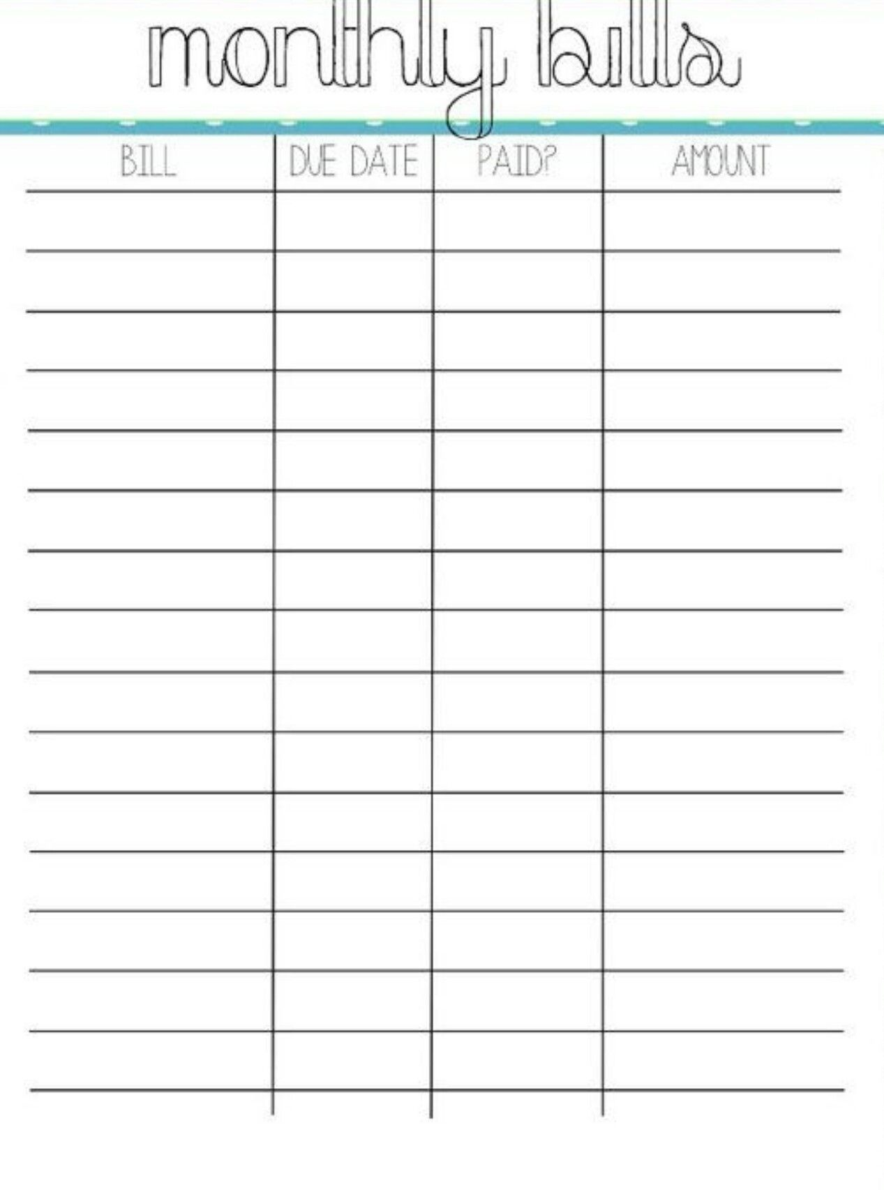 photo relating to Printable Monthly Bill Organizer Download titled Pin through Crystal upon costs Arranging regular monthly costs, Monthly bill