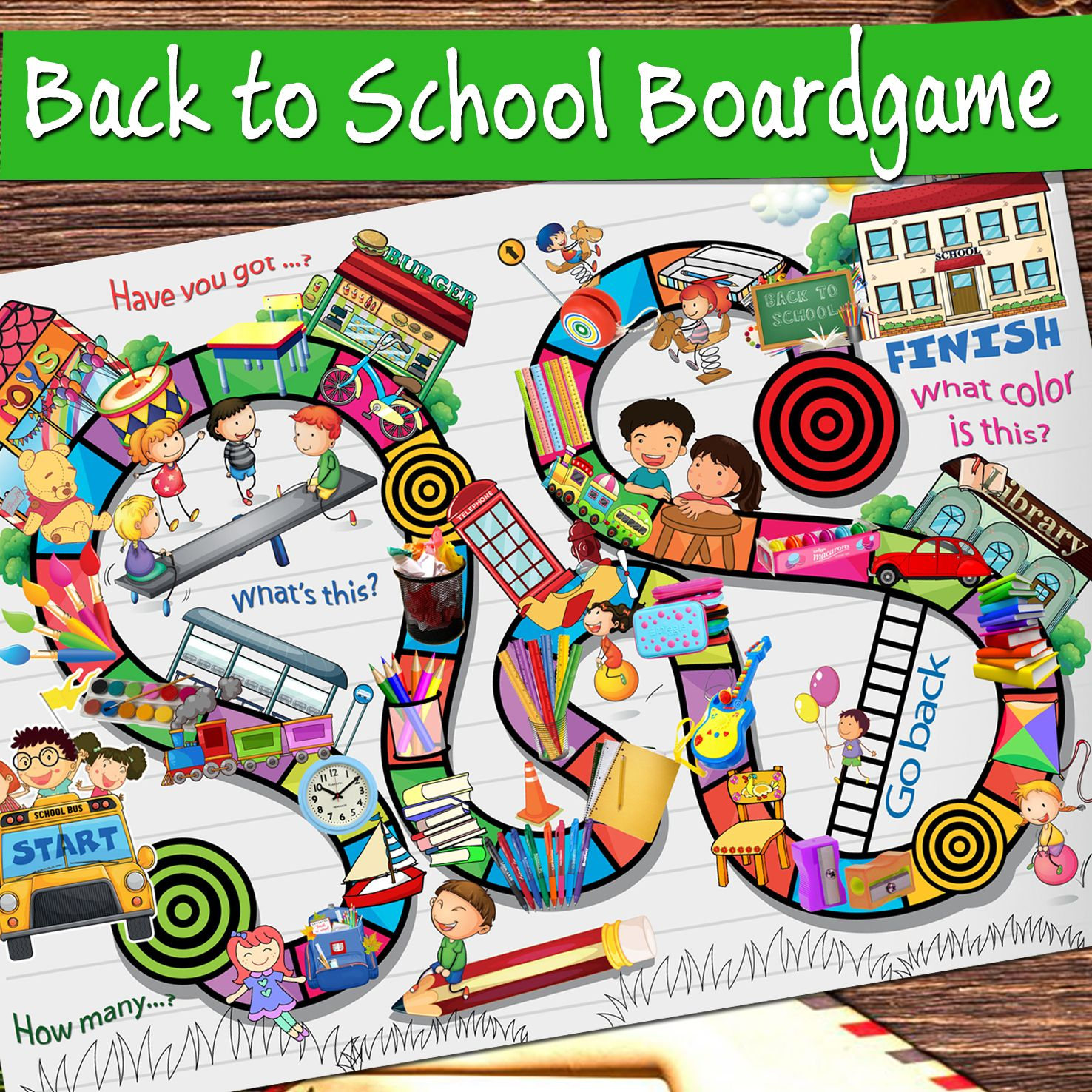 Back To School Board Game Vocabulary Activities For
