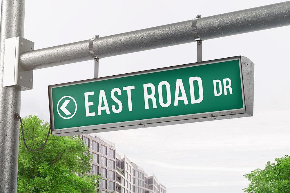 Hanging Street Sign Mockup 418479 Signage Design Bundles Sign Mockup Street Signs Signage Design