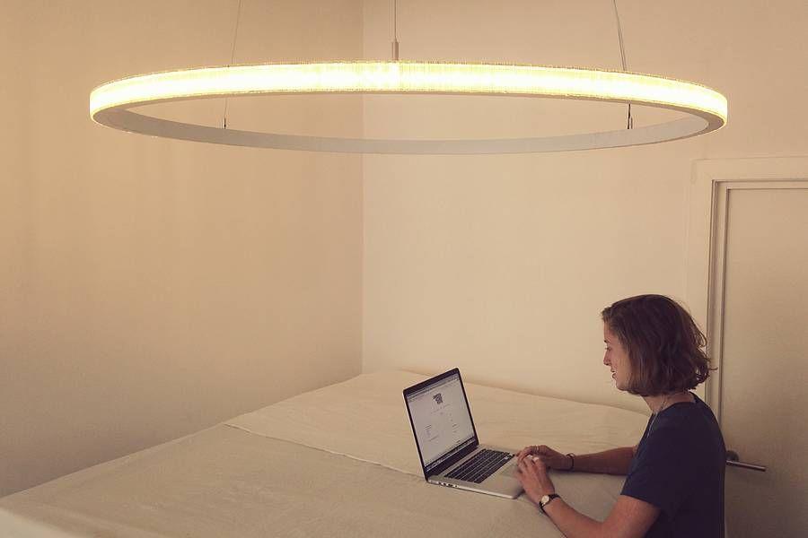 lahti modern circular hanging light by cameron design house