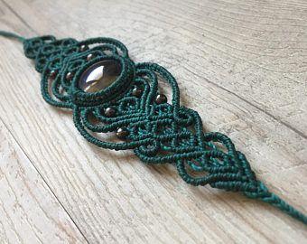 Agate Macrame Bracelet Belisamag Fairy Bracelet Tribal
