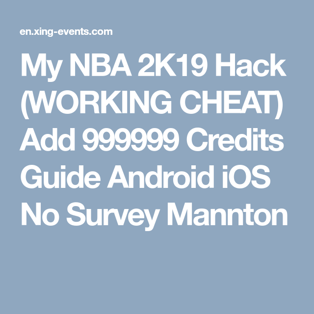 My NBA 2K19 Hack (WORKING CHEAT) Add 999999 Credits Guide Android